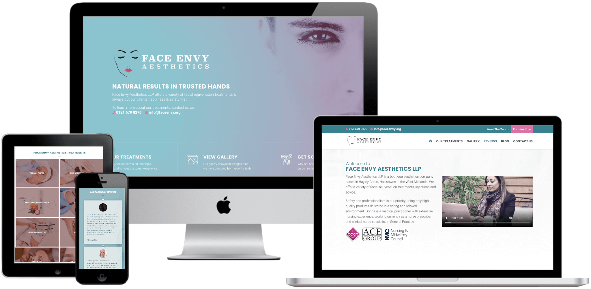 Face Envy Website